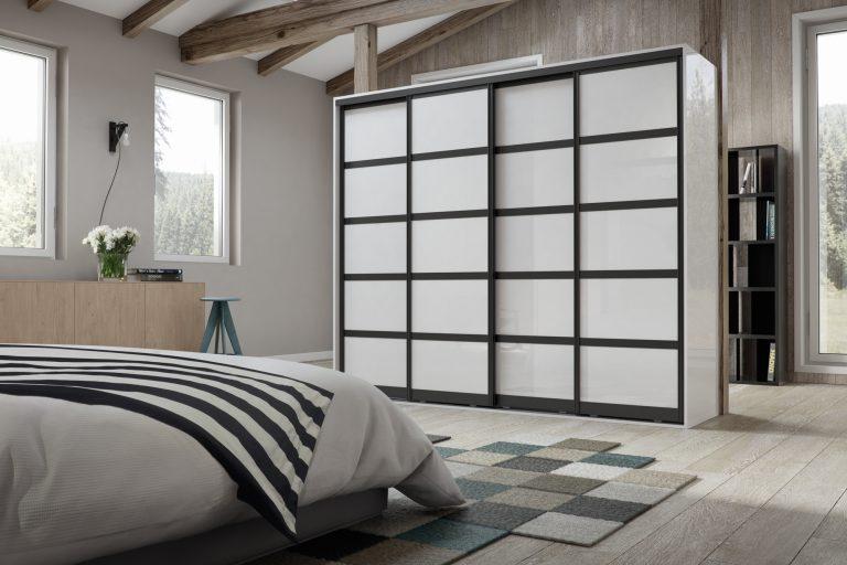 Set 2 Black - Pure White Glass